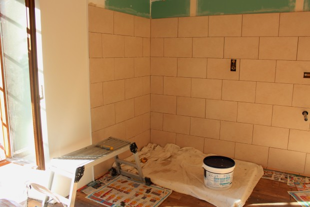Tiling almost finished