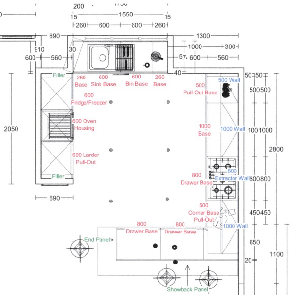 New kitchen plan