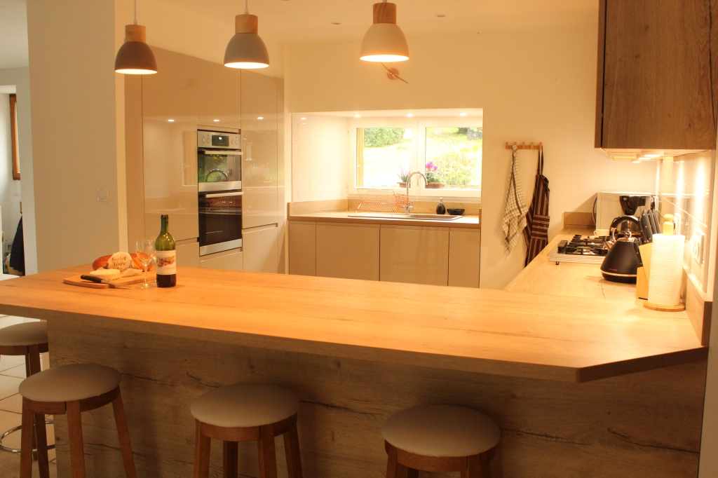 New kitchen from dining area