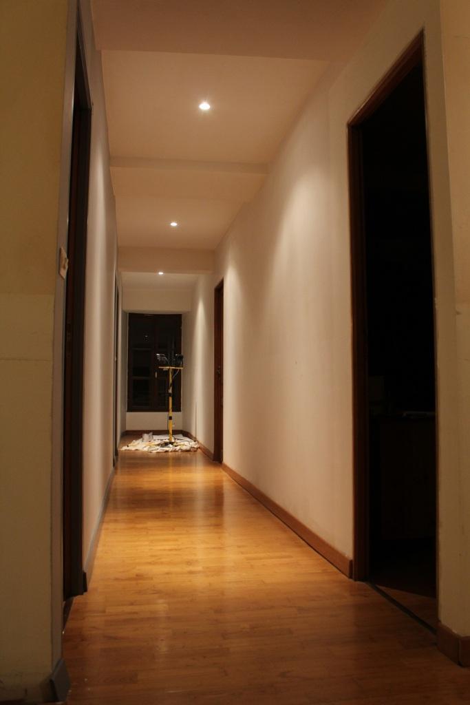 New lighting in the corridor
